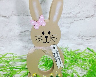 Personalised Bunny, Easter Egg Holder, Easter Gift, Easter Bunny