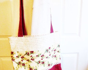 Holly Tote, Winter themed bag