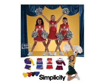 Girls Cheerleader Costume Sewing Pattern Child Size 8, 10, 12 Uncut Simplicity 4040