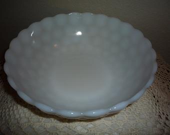 Milk Glass Bubble Bowl