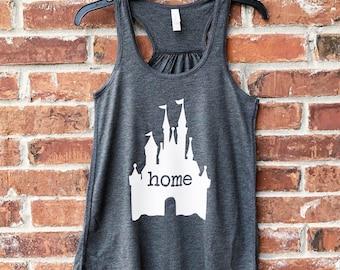Disney Home, Disney Home Tank, Disney Tank, Disney Family Shirts, Run Disney, Disney Lover, Disney Womens Tank Top, Magic Kingdom