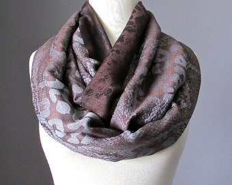 Infinity  Scarf /  animal pattern scarf / Brown scarf / fall scarf / Christmas gift