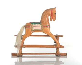 Wooden horse toy, rocker horse toy, rocking horse, toy desk decor,rocking toy, wooden rocking horse, wooden toy horse, wooden rocking