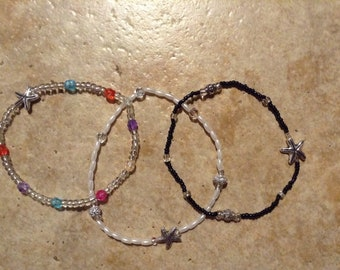 Beach starfish anklet