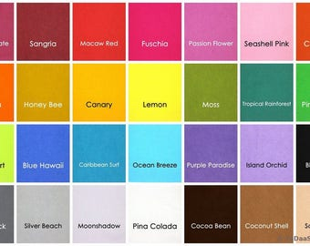 6 Bamboo Felt  11 x 20 in. Sheets - Your Choice of Colors