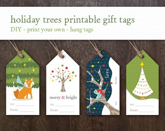 Printable Holiday Gift Tags - Printable Christmas Gift Tags - Printable Christmas Tags - Children's Holiday Tags - Printable Holiday Tags