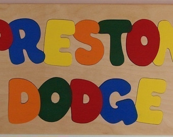 Wooden Custom Name Puzzle - any TWO names