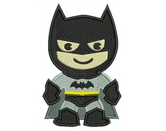 BATMAN Superhero Machine Filled Embroidery - Instant Digital Download