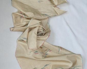 Vintage Japanese Silk Kimono Fabric