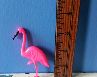 Vintage flamingo pin, flamingo buttom, vintage pin, vintage broach,  flamingo brooch, 80s jewerly, vintage plastic broach