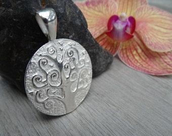 The Bodhi-Tree or Wisdom tree pendant. Sterling silver.