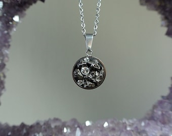 Real Meteorite Pendant. Shooting Star Necklace. Galaxy Jewelry. Astronomy Gifts. The Cosmos Necklace