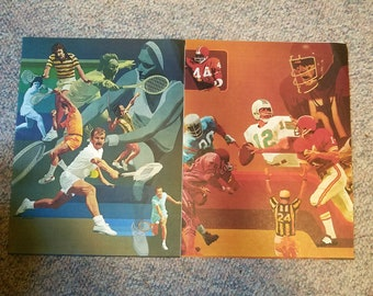 Mead Sports Theme Book Covers - Set of 2 - Football & Tennis