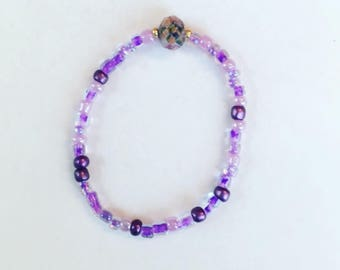Purple princess bracelet