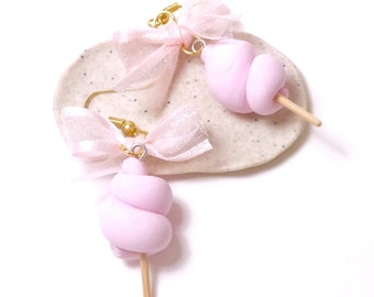 Earrings - cotton candy polymerclay