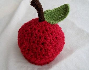 Baby Apple Hat - Baby Hat -Textured Red Apple Hat -Autumn Apple Hat -Newborn Baby Hat - by JoJosBootique