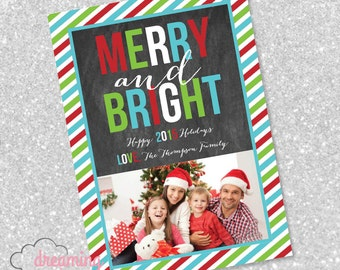 Merry and Bright Christmas / Holiday Card