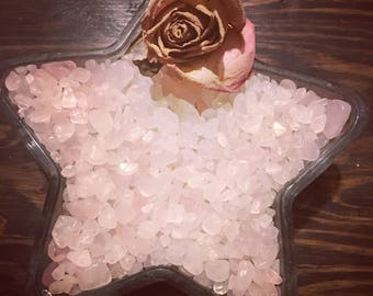 Rose Quartz, Crystal Chips, Gemstone Chips, Chipstones