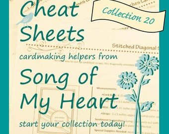 Cheat Sheets #20 Collection: Instant Digital Download cardmaking helpers for crafters and stampers