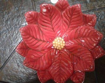 red flowered leaf bowl