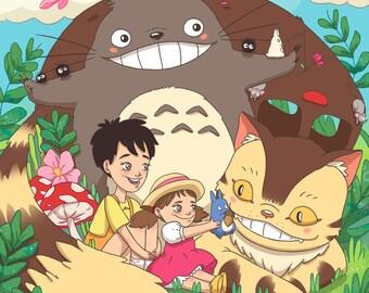 A4 Totoro Print [Studio Ghibli]