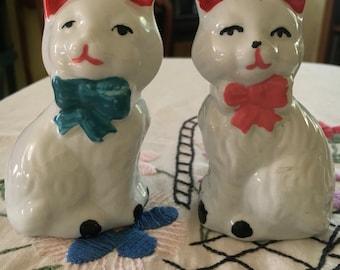 Vintage Cat Salt and Pepper Shakers