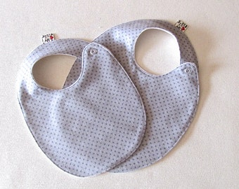 Grey Circle Baby Bib, Grey Polka Dot Baby Bib, Gender Neutral Bib , Grey Bib, Unisex Baby Shower Gift , Modern Bib, Grey Baby Bib