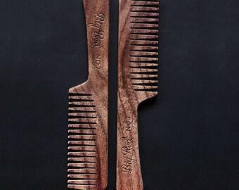 Big Red Beard Comb - Walnut No.7