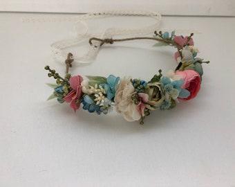 Rain flower crown- Flower crown- Well dressed wolf- Floral crown- Flower Girl- Spring Wedding- Dollcake -tutu du monde