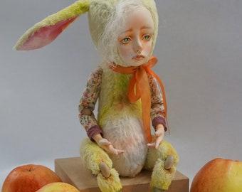 Ooak Art Teddy Doll Bunny Lola