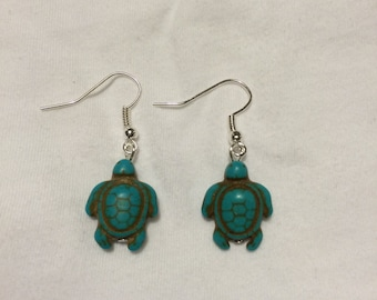 Turquoise Sea Turtle Earrings