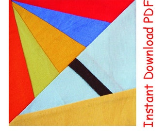 Umbrella Paper pieced INSTANT DOWNLOAD PDF Pattern quilt block Free sun block
