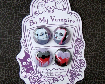 Be My Vampire pin set