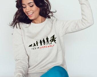 Teen Wolf Sweatshirt - Yes Im Werewolf #R