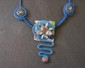 Necklace original ceremony blue *.