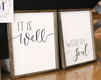 It Is Well With My Soul Framed Canvas Art Set