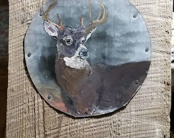 Whitetail deer on TIN and old wood