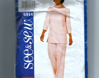 Butterick Misses' Top and Pants Pattern 6914