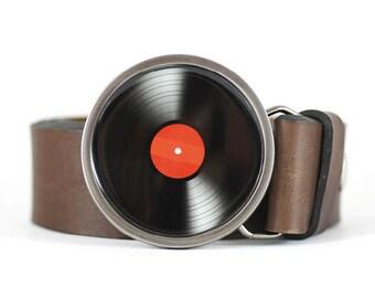 Vinyl Record Belt Buckle, LP Vinyl Belt Buckle, Music Belt buckle, Retro belt buckle, DJ belt buckle, men's belt buckle, gift for him