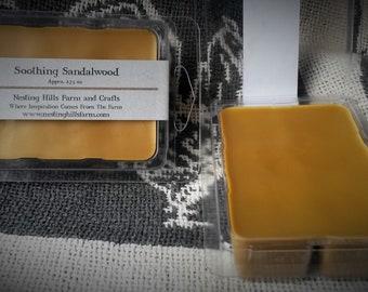 Soothing Sandalwood Soy Wax Tarts