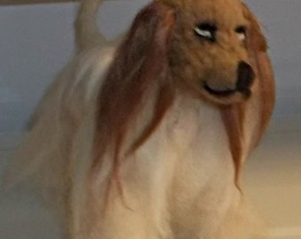 Needle Felted Afghan Hound