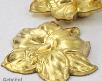 45mm Raw Brass Three Dimensional Lily #3318