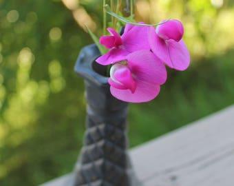 Romantic grey flower - refurbished Aina vase