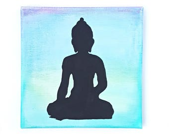 Buddha Wall Art, Yoga Wall Decor, Zen Decor, Canvas Wall Art, Yoga Gifts, Office Decor, Teacher Gift, Motivational Wall Decor, Spiritual