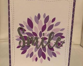 Smile csrd with white envelope