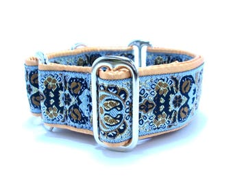 "Houndstown 1.5"" Floral Deco Unlined Buckle or Martingale Collar, Any Size"