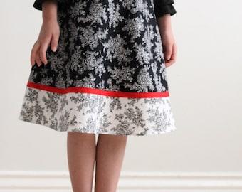 Child A-line Skirt Sewing Pattern CHLOE Girls Skirt PDF Sizes 1-12 #213 (1-12)