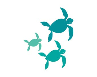 Bale of Sea Turtles Family Car Decal