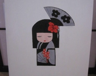 Japanese Doll Painting