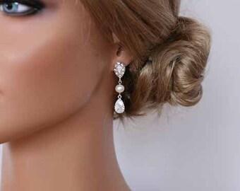 Bridal Pear Drop Teardrop Earrings Best Pear Drop  Earrings Best Gifts For Her